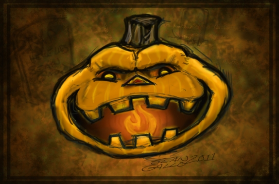 Comic drawing halloween Jack-o-lantern 2011