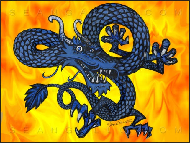 Year of the Dragon Drawing 2012